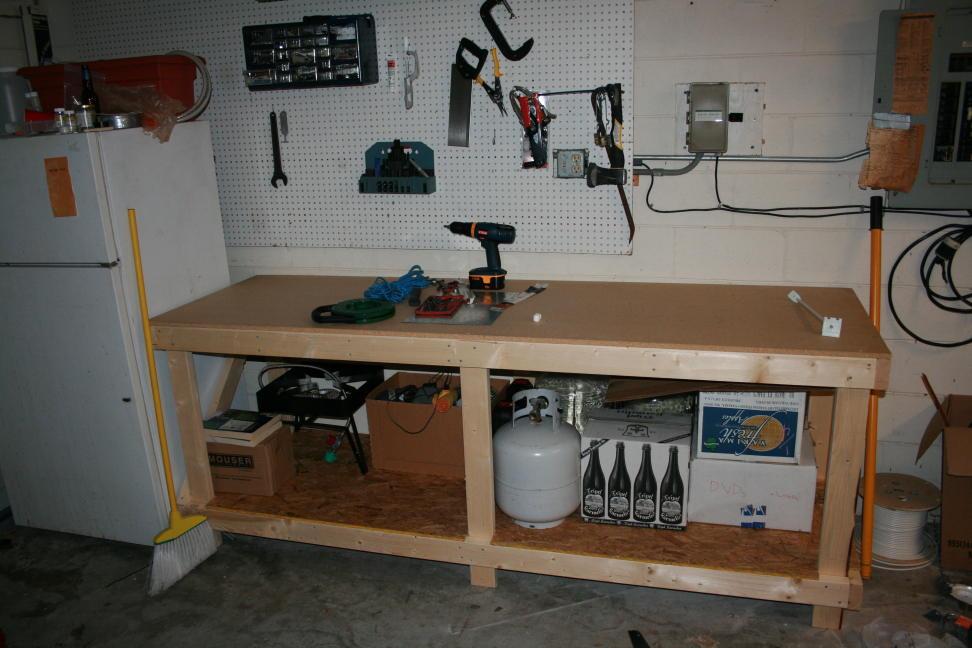 Build Garage Workbench Plans